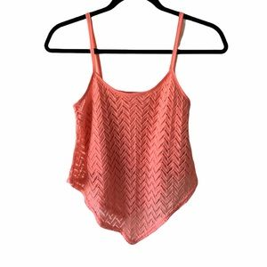SWS Coral Lace Crop Top-S